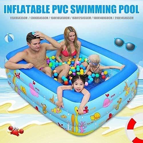 Elise Aufblasbare PVC Kinder Pool Baby-Planschbecken Erwachsene Familie Schwimmbäder Yjiangluochen (Color : 130x85x55cm)