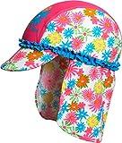 Playshoes Mädchen UV-Schutz Blumenmeer Mütze, Mehrfarbig (Pink 18), Small (Herstellergröße: 49cm)