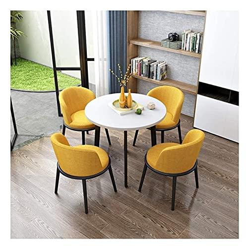 Juego de mesa de comedor para comedor y cocina, juego de mesa y silla de ocio, nórdico, moderno, minimalista, mesa redonda de madera, al aire libre, ocio, entretenimiento, oficina, recepción, 80 cm, c