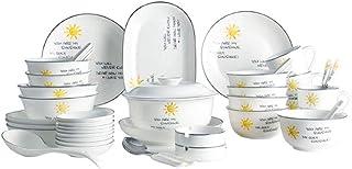 Élégant Ensemble de vaisselle en céramique simple Ensemble de combinaison pour vaisselle créative -48 pièces Durable