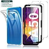 Yocktec Hülle + Panzerfolie Bildschirmschutzfolie für Samsung Galaxy A50/A30s, 9H Gehärtetes Glas Folie mit Transparent Handyhülle Schutzhülle Soft TPU Bumper Hülle Cover für Samsung Galaxy A50