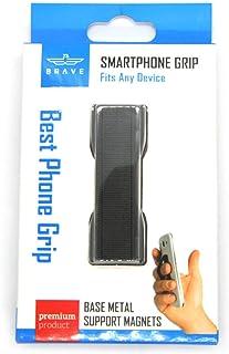 BRAVE SMART PHONE METAL BASE GRIP - Finger Holder Sling Grip for Smartphones/Tablets/iPod/eReader with Elastic Band and Co...