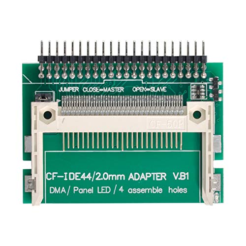 CY CF Compact Flash Merory Card to Laptop 2.5 44 Pins Male IDE Hard Disk Drive HDD SSD Adapter (Works as a HDD in True IDE Mode! Please Also Make Sure Your CF Card with True-IDE molde First.)