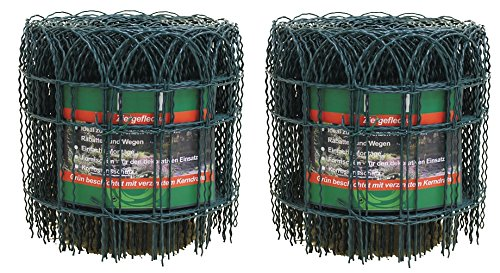 Artecsis 2X Ziergitter aus Metall in Grün, 10 m x 0,4 m, Gartenzaun um Pflanzen, Bäume, Blumen zu schützen
