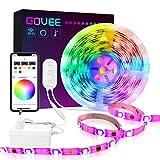 Govee Smart WiFi Ruban LED 5M Dreamcouleur, Bande LED Alexa 5050 LED 12V 2A Contrôlé Par APP Multicouleurs Musique Pour iOS et Android, Décoration Pour Maison,Soirée(Ne Supporte pas le Wi-Fi 5G)