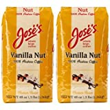 Jose's Vanilla Nut Whole Bean Coffee 3 lb. Bag 2-pack