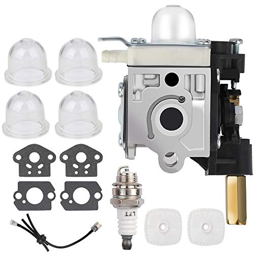 VENTOMO Carburetor Carb Set with Spark Plug Primer Bulb Air Filter,for Weed Eater, String Hedge Trimmer, Edger, Easy-Start Carb (SRM210 Carburetor)