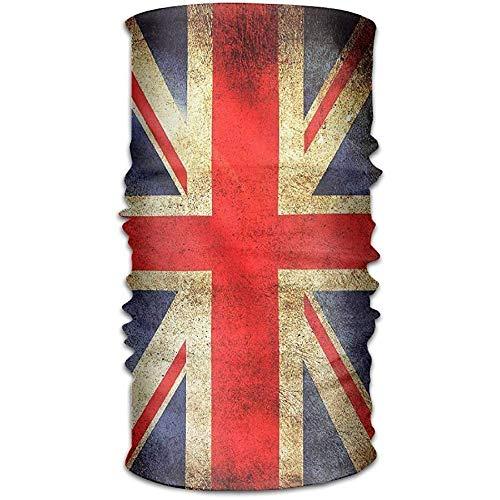 Voxpkrs Headband Unisex Stylish United Kingdom British Map Flag Quick Dry Microfiber Headwear Outdoor Magic Bandana Neck Gaiter Head Wrap Headband Scarf Handscarf