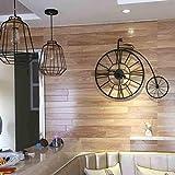 A32 Wall Clock Soggiorno Nord Moderno Moderno Creativo Art Bar Parete Campana Retro personalità Muto Bicicletta Grande Orologio da Parete (20 Pollici), 1