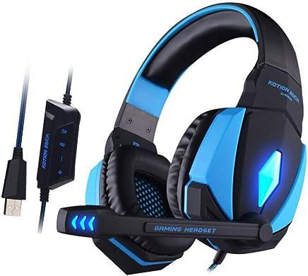 W-SHUMA Cuffie Cuffie per Computer, Versione Scheda Audio USB Suono Surround 3D, Microfono Universale per Notebook da Tavolo con Frumento (riduzione del Rumore della Scheda Audio) (Colore : Blu) - Trova i prezzi più bassi