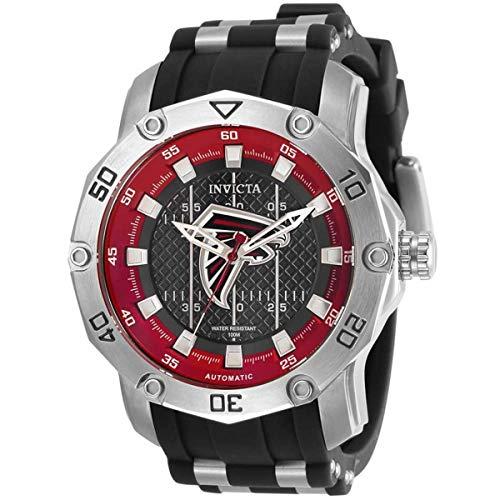 Invicta NFL Atlanta Falcons Reloj automático para hombre con esfera negra 32009