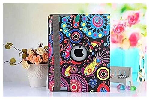 ZRH Accesorios De Pestañas para iPad Air 2 iPad Air 1 9.7', Luxury 360 Rotating PU Cuero De Cuero con Estuche De Tableta Impresa Cubierta Protectora para iPad Air 1 (Color : AS picture05)
