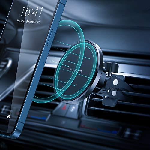 CHOETECH Magnetische Auto Halterung für iPhone 12 Air Vent Handy Halterung Auto Magnet, 360 ° Verstellbarer Lüftung KFZ Handyhalterung für iPhone 12 / 12 Pro / 12 Pro Max / 12 Mini