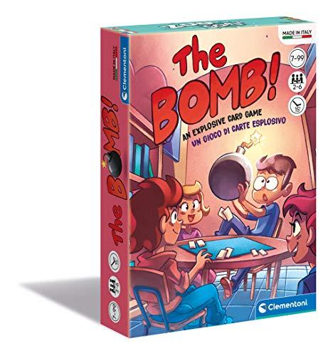 Clementoni - The Bombmazzo, Cartas Infantiles, Mesa, Juego de Sociedad para Toda la Familia, 2 – 6 Jugadores, 7 años +, Fabricado en Italia, Multicolor, 16303