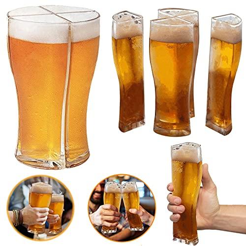 2 set di bicchieri da birra Bicchiere da birra personalizzato Articoli per feste Regali per uomini Bicchieri da birra ottimo per l'estate, cene a casa, bar, intrattenimento per feste (trasparente)