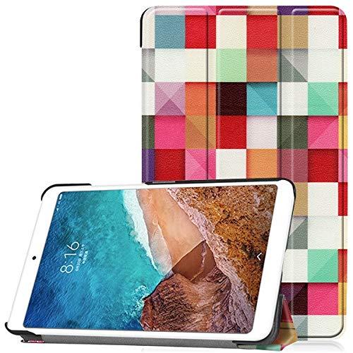 HHF Pad Accesorios para Xiaomi Mi PAD4 MIPAD 4 8.0 Pulgadas, Funda de Cuero de la PU Delgada Cubierta Protectora para la Tableta para MI Pad 4 8 Stand Smart Cover + Regalos (Color : HLF)