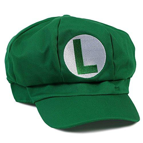 Landisun Super Costume Hat Anime Adult Unisex Cosplay Cap Green
