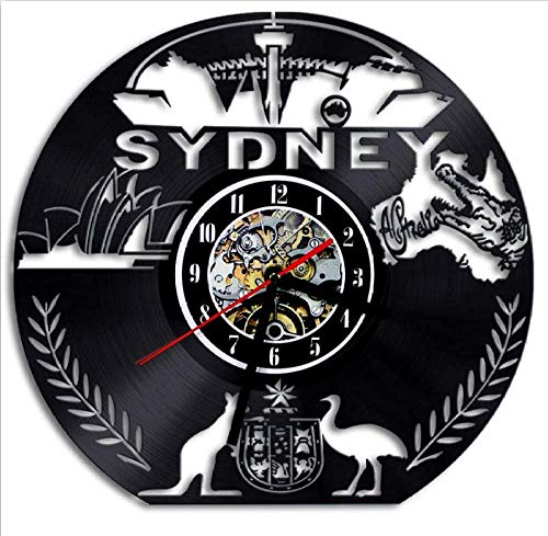 1 stuk klok Sydney Vinyl wandklok Sydney Skyline Art klok verlichting klok Tourist Gift