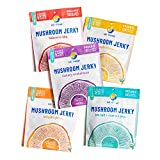 EAT THE CHANGE Mushroom Jerky Variety Pack | 150 Calories or Less Per Bag, Planet Based Organic and Chef Crafted | Pack of 5 2oz Bags