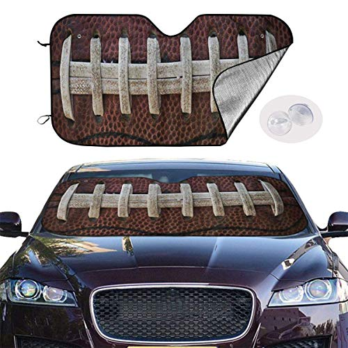 mchmcgm Sonnenschirm Abdeckung American Football Themed Fun Auto Windwhield Sun Shades Universal Fit 51.2 X 27.6 Inch Window Keep Your Vehicle Cool Visor for SUV Sunshade Cover