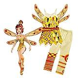 FINDPITAYA Mia and Me - Kostüm Regenbogen für Kinder Classic Yuko - Halloween Cosplay (120)