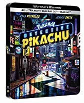 Pokémon-Détective Pikachu 4K Ultra HD [Boîtier SteelBook Limité] [Ultimate Edition - 4K Ultra HD + Blu-ray 3D + Blu-ray - Boîtier SteelBook Limité]