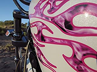 No. 18 - Bubblegum True Fire Edition -18pc - Tribal Flame decals for Motorcycle tank, fenders, helmet