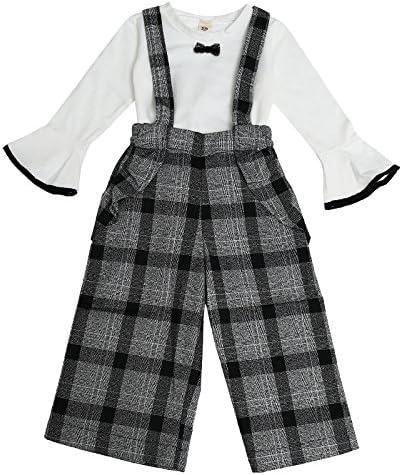 Wide Leg Two Piece Sets MV Girls Autumn Suits New Childrens Long Sleeve T-Shirt