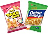 Nongshim Tako Chips, Onion Flavored Rings - Combo Pack (Pack of 2)