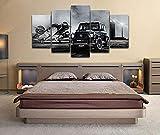 CVBGF Gerahmte Moderne Leinwanddrucke Kunstwerk, Brabus Widestar Mercedes-Amg G63, XXL Große Kunst Leinwanddruck 5 Stück Home Set Wohnzimmer Schlafzimmer Wandkunst Dekor