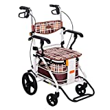 DBCSD Chariots de magasinage Chariot de magasinage Le Vieil Homme Fait Un Caddy Portable à Quatre Roues pouvant Supporter Un Fauteuil Roulant Pliant Un Panier d'épicerie Peut Supporter 120 kg