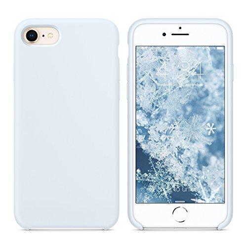 """SURPHY Cover Compatibile con iPhone SE 2020/iPhone 8/iPhone 7, Custodia per iPhone SE 2020/8/7 Silicone Slim Cover Antiurto con Fodera in Microfibra Case per iPhone SE 2020/8/7 4.7"""", Blu Chiaro"""