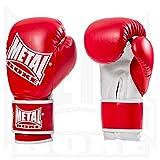 METAL BOXE MB200 - Guantes de Boxeo para Entrenamiento, Color Rojo, Talla 10 oz
