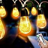 Cocoda Catena Luminosa Esterno, 5.7M USB Bolla Luci da Esterno con Telecomando, 8 Modalità Twinkle Light, Decor per Feste Indoor all'Aperto, per Matrimonio, Natale, Tenda, Giardino (Giallo Caldo)
