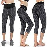 Sundried Donne ritagliata Leggings 3//4 di Capri Tights Yoga esecuzione Gym Training