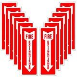 Hongfa Fire Extinguisher Signs Stickers – 12 Pack 4x12 Inch – Premium Self-Adhesive Vinyl Decal, Bubble Free Application, Laminated for Ultimate UV, Weather, Scratch, Water & Fade Resistance