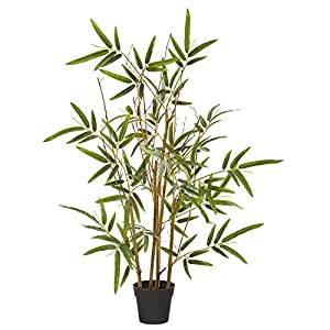 Nearly Natural 28in. Bamboo Artificial Silk Trees, Green