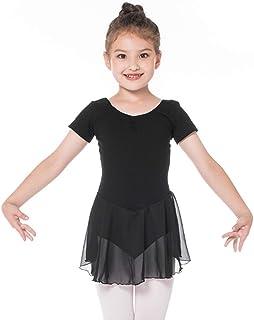 EASTBUDDY Girls Ballet Dance Dress Kids Tutu Skirted Leotard Gymnastics Outfit Dancewear Short Long Sleeve