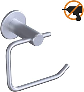 AiHom Toilet Paper Holder Self Adhesive Bathroom Paper Roll Holder Stick on Wall No Drill, M66, Sujetador de Papel de baño