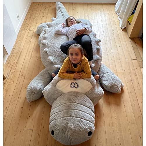 Bananair Peluche Pouf Crocodile Géant de 300 cm Idéal comme
