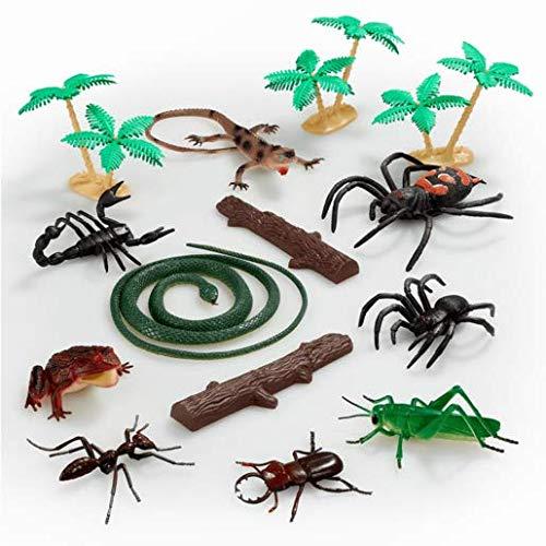 Générique Animal World – Reptiles et Insectes – Set de Mini Figurines