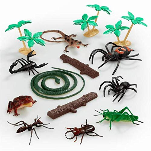 ANIMAL WORLD – Reptiles et Insectes – Set de Mini Figurines