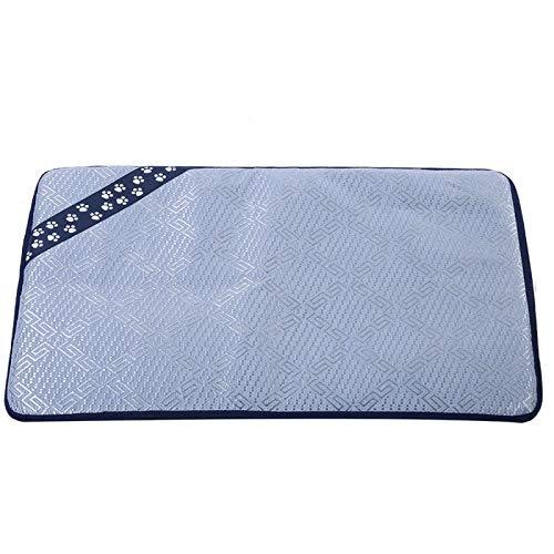 Tappetino per animali domestici, tappetino rinfrescante estivo per cani, coperta per dormire per cani Cuscino per il ghiaccio riutilizzabile per animali domestici per gatti di piccola taglia(S)