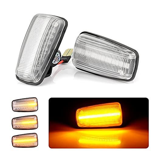 LOVONLIVE Luz de señal de giro LED dinámica para Peugeot 106 306 406 806, marcador lateral humo Len indicador para Peugeot 106 306 406 806 Citroen Berlingo Jumpy Saxo Xantia XM Fiat Scudo Ulysse