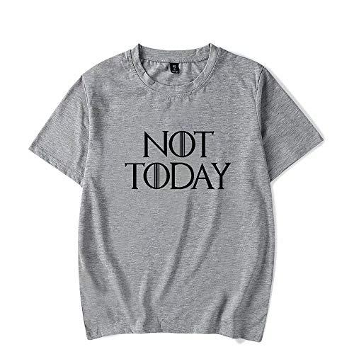 jianpanxia Arya Not Today T-Shirt Tronos Serie de TV Mercancía Cita de Arya Camisetas Gráfica Cuello Redondo Tops Suaves Camisetas Camisetas
