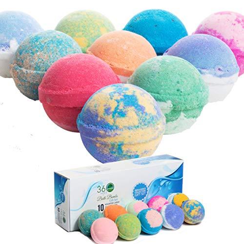 (30% OFF Deal) Bath Bomb Gift Set – 10 large organic USA made $20.79