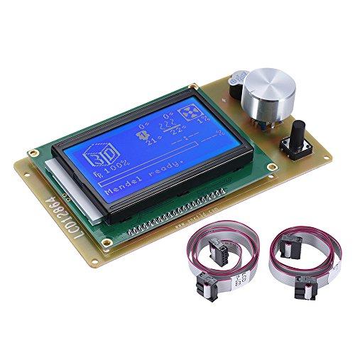 Aibecy Anet 3D Drucker Steuerung Modul Kit und Zubehör, 3D Printer Controller Smart Board, Intelligent LCD Bildschirm Anzeigen Regler mit Kabel für RAMPS 1.4 Mega Pololu Schild Umschlag