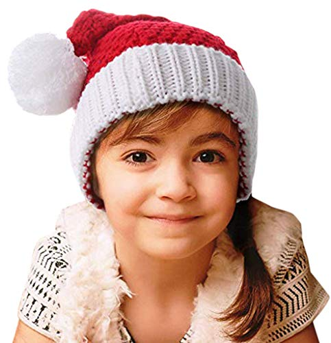 HINDAWI Christmas Hat for Kids Santa Hats Beanie Knitted Ski Knit Warm Slouch Skull Caps