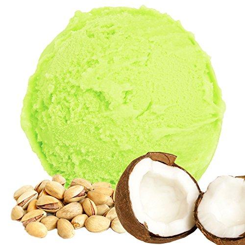 Kokos-Pistazie Geschmack für Speiseeis Gino Gelati Eispulver Softeispulver für Ihre Eismaschine (333g)