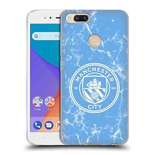 Head Case Designs Licenciado Oficialmente Manchester City Man City FC Azul Blanco Mono Insignia de mármol Carcasa de Gel de Silicona Compatible con Xiaomi Mi A1 / Mi 5X